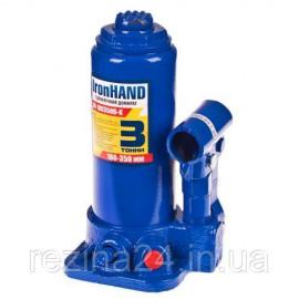 Домкрат бутылочный Iron Hand IH-180350D-K 3т