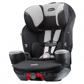 Автокрісло Evenflo SafeMax 3в1 Platinum Shiloh Сіре з чорним (0328841915155)