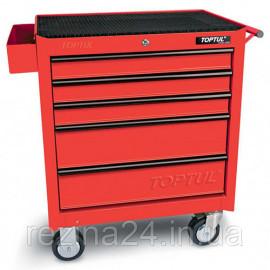 Візок для інструменту TOPTUL 5 секцій (червона) TCAA0502