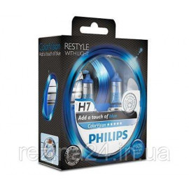 Комплект галогенних ламп Philips ColorVision Blue 12972CVPBS2 H7 3350K