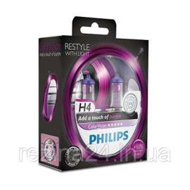 Комплект галогенних ламп Philips ColorVision Purple 12342CVPPS2 H4
