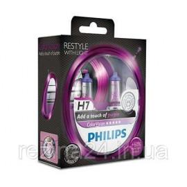 Комплект галогенних ламп Philips ColorVision Purple 12972CVPPS2 H7