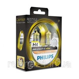 Комплект галогенних ламп Philips ColorVision Yellow 12342CVPYS2 H4