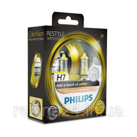 Комплект галогенних ламп Philips ColorVision Yellow 12972CVPYS2 H7 3350K