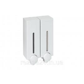 Дозатор для рідкого мила подвійний Prima Nova SLIM LINE, білий (SD14)