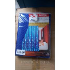 Шторка для душа Dream Land 1.8*1.8 м, поліестер 3D, ультра-синій (11150TXT-dblue)