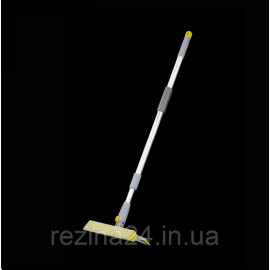 Швабра для миття вікон Eco Fabric поворотна губка 20см, алюмінієва телескоп. ручка 60-90см (EF-2034)