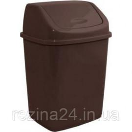 Сміттєве відро Алеана 18л з кришкою, коричневий (122065)