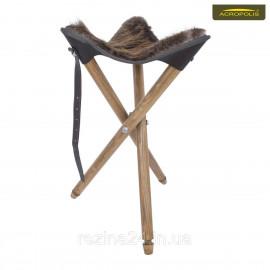 Стілець зі сидінням з натурального хутра бобра для мисливців СТ-1хб