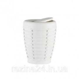 Відро для сміття з кришкою Prima Nova PALM, бежевий (E21-09-09) Білий
