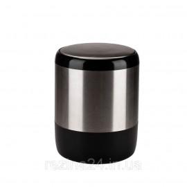 Відро для сміття з кришкою Prima Nova PALM, бежевий (E21-09-09) 6 л, Чорний