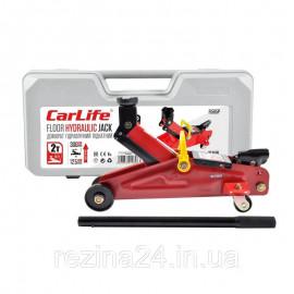 Домкрат гідравлічний підкатний 2 т (125-305 мм) CarLife в пластиковому кейсі (FJ565P)