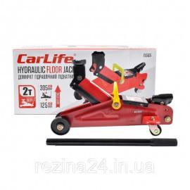 Домкрат гідравлічний підкатний 2 т (125-305 мм) CarLife в картонній упаковці (FJ565)