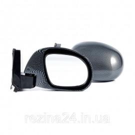 Бічні дзеркала Carlife універсальні карбон з шарніром 2 шт. (VM530)