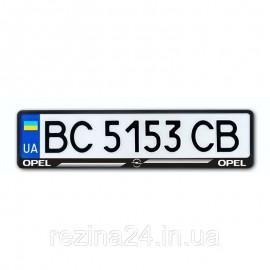 Рамка номера CarLife для Opel чорний пластик (NH164)