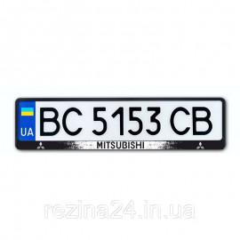 Рамка номера CarLife для Mitsubishi чорний пластик (NH153)