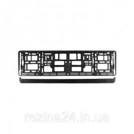 Рамка номера CarLife для Audi чорний пластик (NH214)