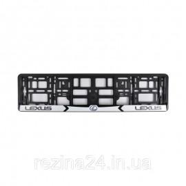 Рамка номера CarLife для Lexus чорний пластик (NH031)