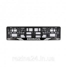 Рамка номера CarLife для Honda чорний пластик (NH092)