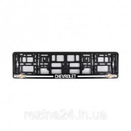 Рамка номера CarLife для Chevrolet чорний пластик (NH352)