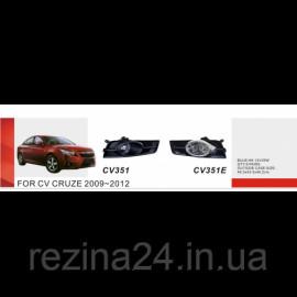 Протитуманні фари Vitol CB-351E-W Chevrolet Cruze 2009-