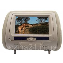 Підголівник з монітором і DVD-програвачем KLYDE Ultra 745 HD Beige (бежевий)