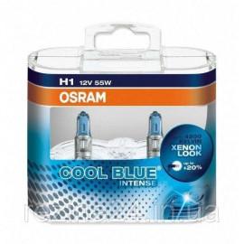 Комплект галогенних ламп Osram Cool Blue Intense 64150CBI-HCB-DUO H1 12V 55W P14.5s Hard DuoPET
