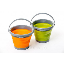 Відро складне силіконове Tramp (10L) orange, olive