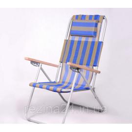 Крісло-шезлонг Vitan «Ясен», Ø 20мм (текстилен синьо-жовтий)
