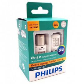 Світлодіодні лампи Philips Ultinon 11498ULAX2 PY21W (BAU15s)  Amber 12v Smart Canbus