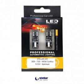 Світлодіодні лампи STELLAR 3G9 T10/W5W CAN BUS червоні
