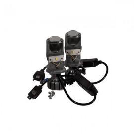 Комплект світлодіодних лінз HeadLight BI-LED H4 20/20W mini