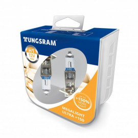 Комплект галогенних ламп Tungsram Megalight Ultra +150% H1 55W 12V