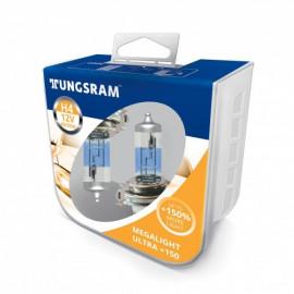 Комплект галогенних ламп Tungsram Megalight Ultra +150% H4 60/55W 12V