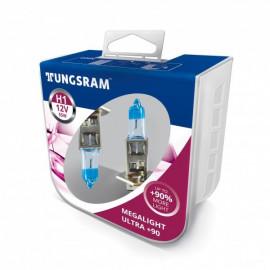 Комплект галогенних ламп Tungsram Megalight Ultra +90% H1 55W 12V