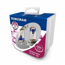 Комплект галогенних ламп Tungsram Megalight Ultra +90% H4 60/55W 12V