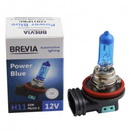 Галогенна лампа Brevia H11 Power Blue 12011PBC 12V 55W