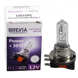 Галогенна лампа Brevia H15 Power 12015PC 12V