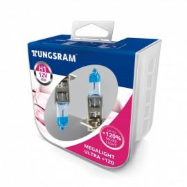 Комплект галогенних ламп Tungsram Megalight Ultra +120% H1 55W 12V