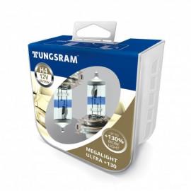 Комплект галогенних ламп Tungsram Megalight Ultra +130% H4 60/55W 12V