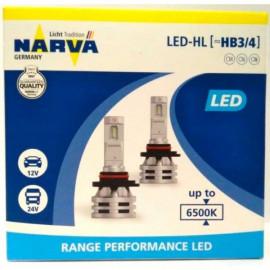 Світлодіодні лампи Narva RPL Range Performance 18038 HB3/HB4 12/24v 6500K X2 24W