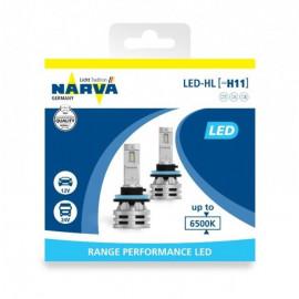 Світлодіодні лампи Narva RPL Range Performance 18048 H11 12/24v 6500K X2 24W PGJ19-2