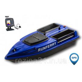Карповый кораблик Camarad V3 + Lucky 918 Red + GPS, Синий, + Lucky 918