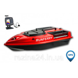 Карповый кораблик Camarad V3 + Lucky 918 Orange + GPS, + Lucky 918, Красный