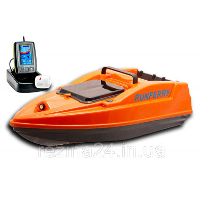 Карповый кораблик SOLO V2 GPS + Toslon TF500 Red Не установлен, Оранжевый, + Toslon TF500