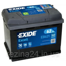 Аккумулятор Exide Excell 62AH/540A (EB621)