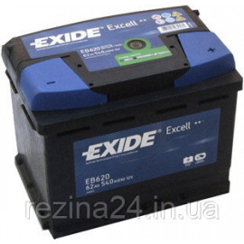 Аккумулятор Exide Excell 62AH/540A (EB620)